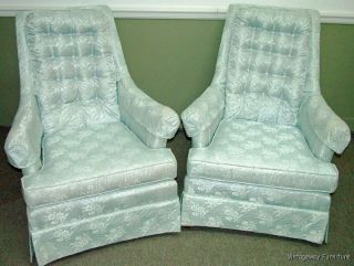 6036: Mid - Century Hollywood Regency Pair Accent Lounge Chairs photo