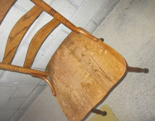 Pre - 1900s Antique Bentwood Hand Carved Oak Chair photo