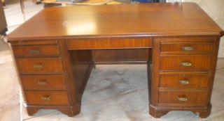 Antique Walnut Deco Desk photo