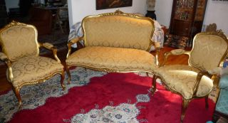 French Style Antique Furniture Sofa & Chair photo