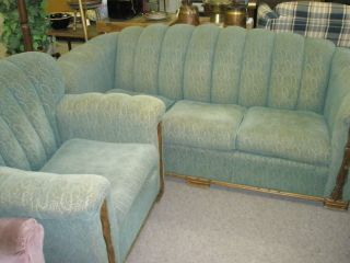 Vintage Sofa & Chair In Good Condition photo