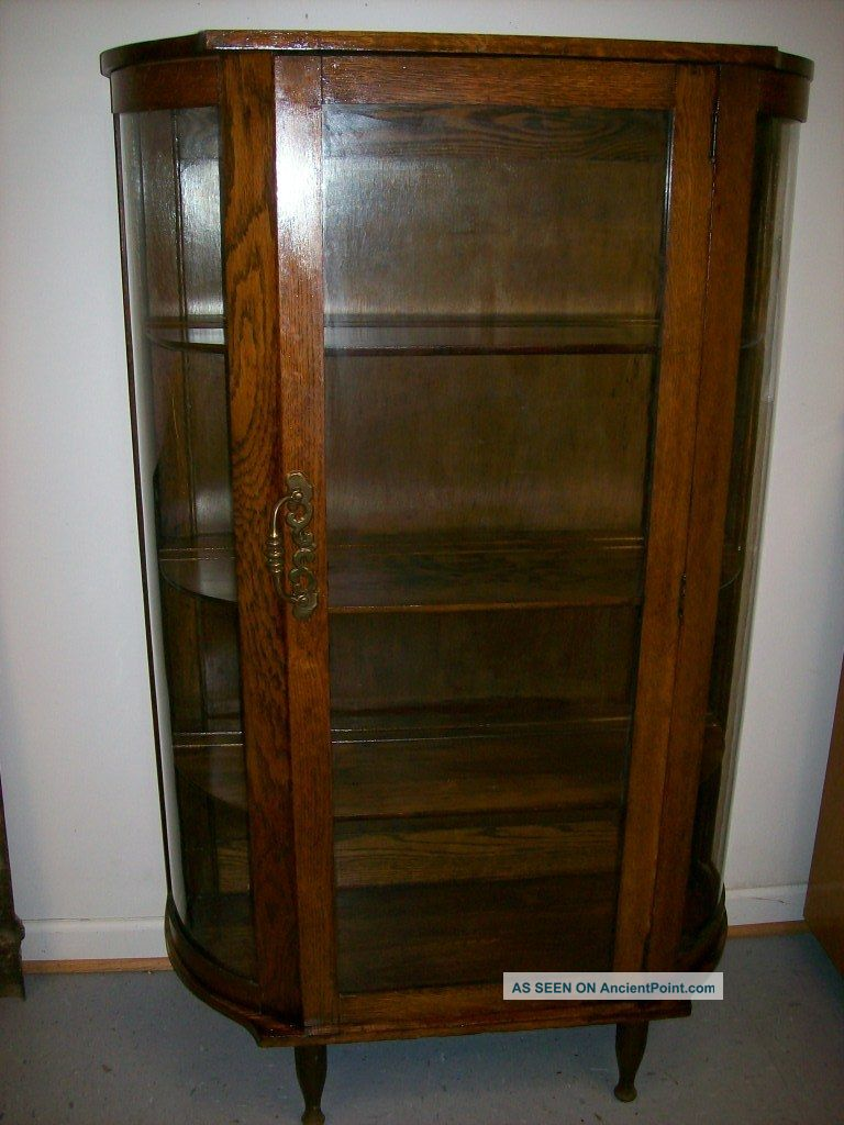 - Antique Bow Front China Cabinet