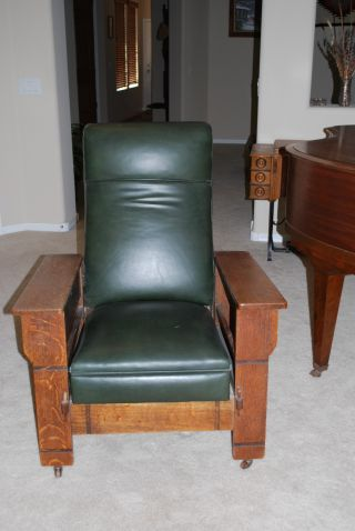 Arts & Crafts/craftsman Style 1907 Imperial Automatic Reclining Chair photo