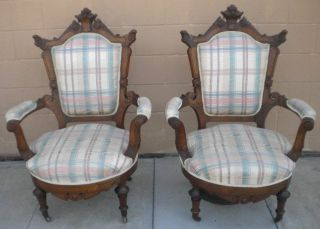 Antique Victorian Parlor Chairs photo