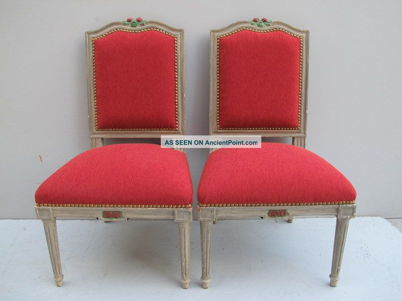 Pair Of French Louis Xvi Patinated Chairs 08704 Post-1950 photo