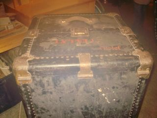 Antique Steamer Trunk Late 1800 ' S - Early 1900 ' S Hartman photo