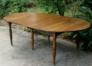 American C 1880 Country Antique Cherry Drop Leaf Dining Banquet Table Seats 8/10 photo