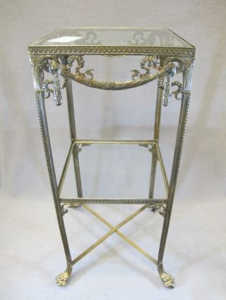 Great German Wmf Bronze & Glass Side Table 08775 photo