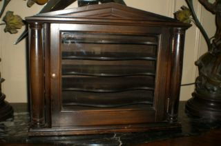 Antique Circa 1900 Mahogany Table Top Sheet Music Cabinet / Case / Stand photo