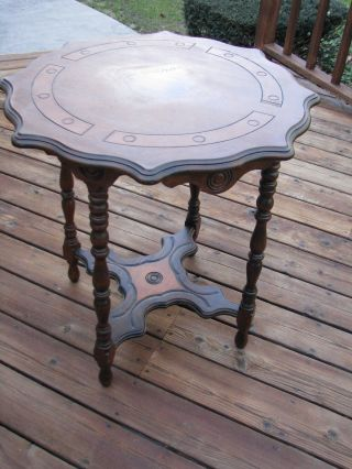 Antique Lamp/foyer Table photo