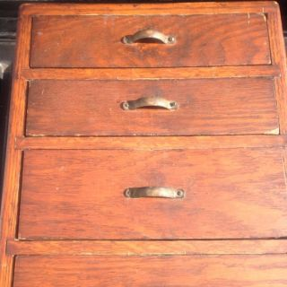 Vintage Oak Sewing/storage Wall Cabinet,  L@@k photo