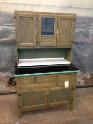 Antique Kitchen Hoosier Cabinet Cupboard Ariel Handyhelper Kitchenette photo