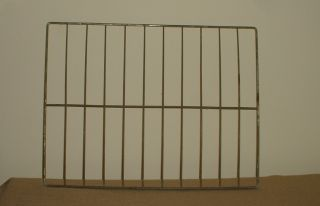 Metal Wire Rack Shelf Salvaged From Antique Kitchen Cabinet 18 1/8 X 14 Inches photo