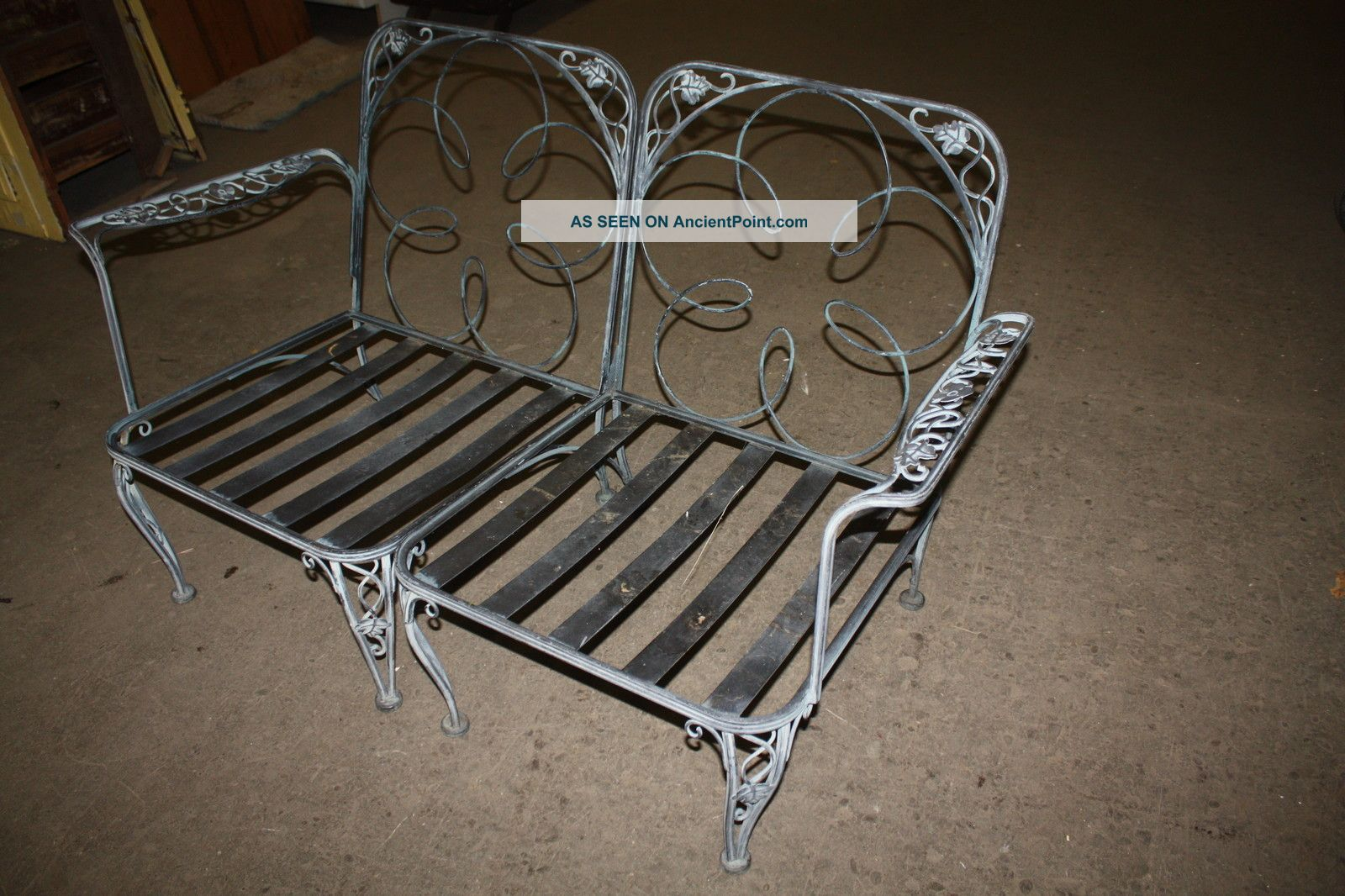 Many photos Wrought Iron furniture project Vintage American Wrought Iron Pa