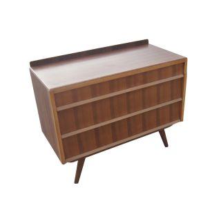 Vintage Mid Century Modern Walnut Dresser photo