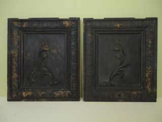 Antique Salvage - Two Old Oak Cabinet Doors Circa 1910 (americana) photo