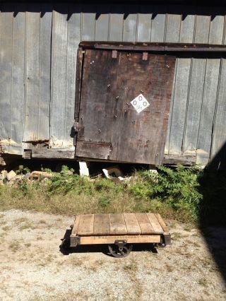 Lineberry Railroad Cart Push Cart,  Farm Table,  Coffee Table, ,  Antique photo