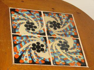 Spanish Revival Ranch Era Garden Veranda Coffee Tile Table 1920s photo