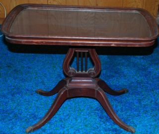 Federal Revival Style Coffee Table C.  1920 - 1940 Finish photo
