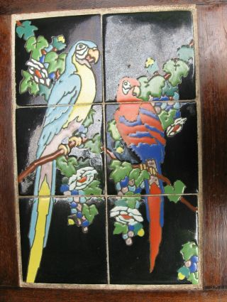 1930s California Taylor Tile Parrot / Macaw Table photo
