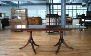Conference Table Extending Dining Table Banquet Regency Revival Mahogany photo