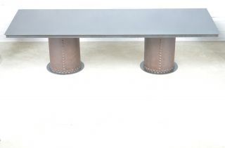 Vintage Antique Industrial Machine Age Dining Table Or Conference Table Art Usa photo