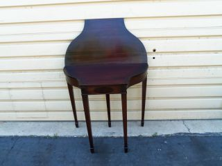 50343 Antique Mahogany Flip Top Game Table Stand photo