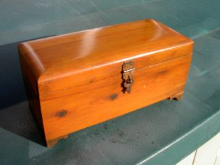 Rare Antique American Art Deco Miniature Lane Cedar Wood Hope Chest photo