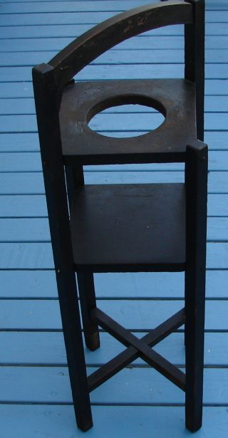 Wood Stand Antique Cigarette Cigar Plant Handle 12x30