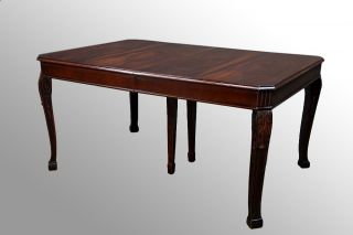 14970 Antique Unusual Mahogany Carved Dining Table photo