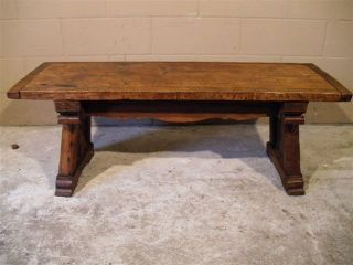 Gothic Coffee Table Rustic Styling 19th Century photo