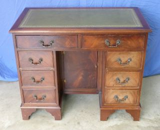 Mahogany Georgian Design Kneehole Desk photo