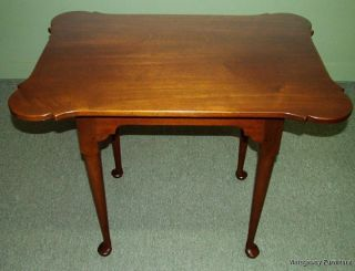6012: Kittinger Williamsburg Wa1057 Porringer Table Heirloom Mahogany photo