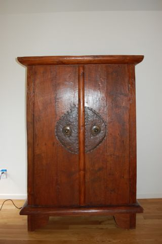 Antique Javanese Teak Cabinet - $1100.  00 photo