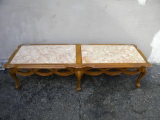 French Cherry Marble Top Coffee Table 1636 photo