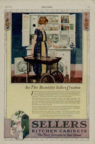 1920 Sellers Kitchen Cabinets Ad / Sellers Ad photo