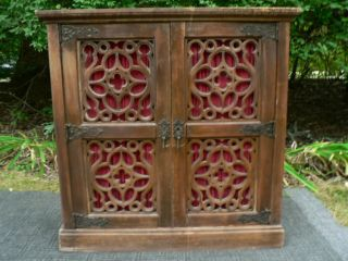 Spanish Colonial Revival Accent Hall Sideboard Cabinet photo