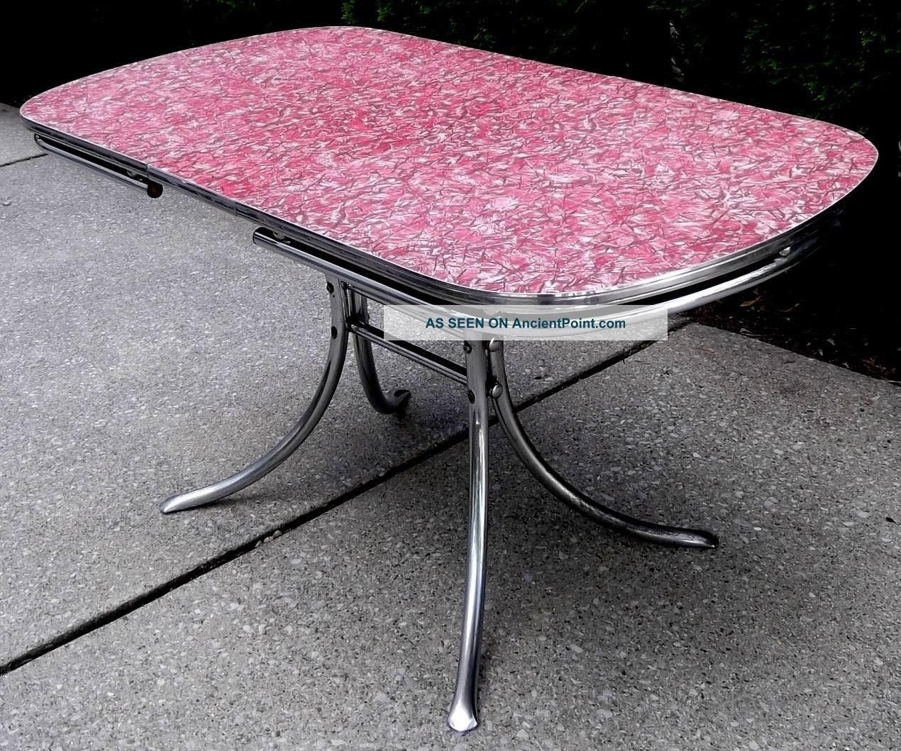 Image of: 1950s Mid Century Retro Red Laminate Chrome Kitchen Dining Table Watertown Co
