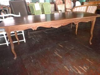 238a Country French Carved Front Dining Table,  Table photo