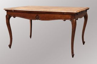 15498 Antique Carved Oak Dining Table photo