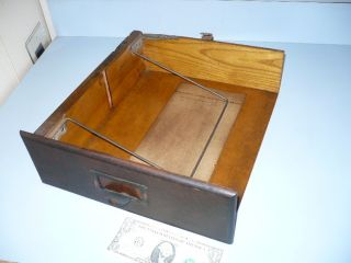 Antique Wabash Oak Letter File Drawer Part photo