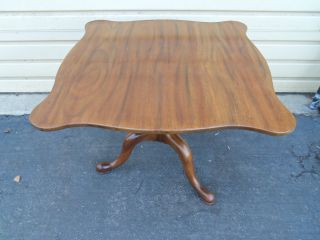 49910 Solid Mahogany Large Tilt Top Table Stand Quality photo