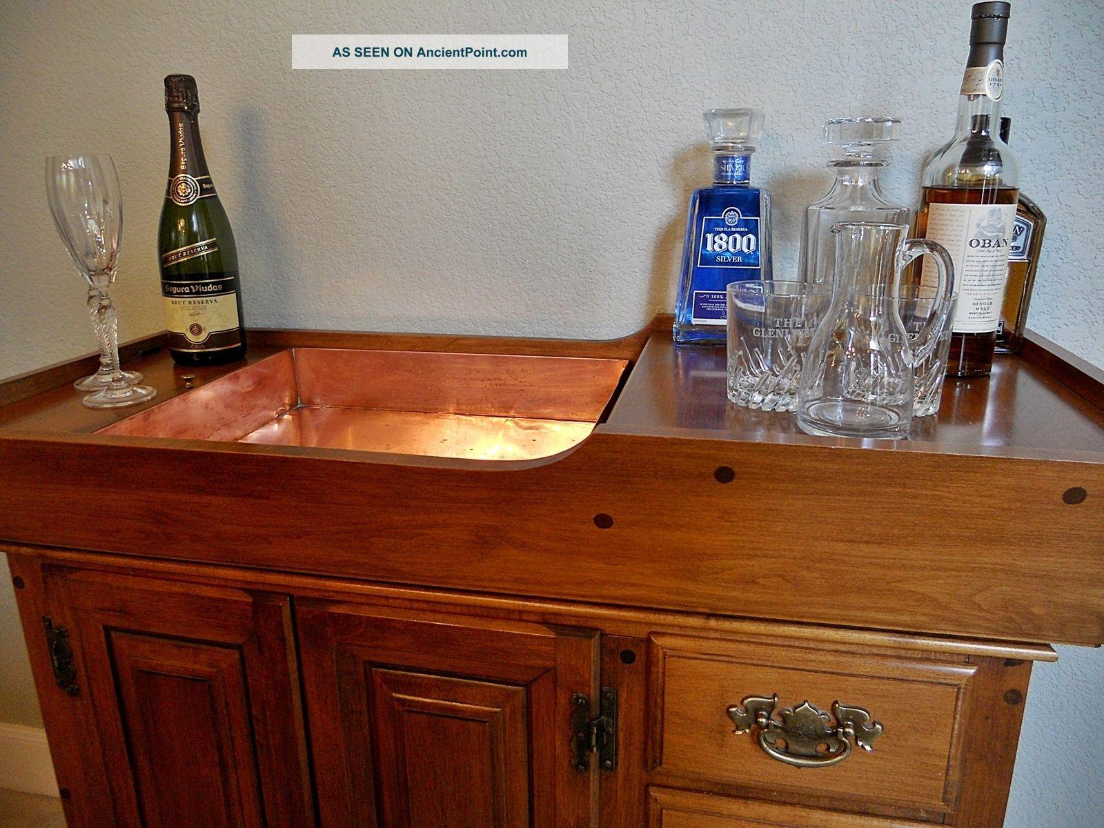 Pristine Condition Antique American Rock Maple Dry Sink Bar Sprague Carleton