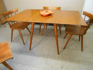 1956 Paul Mccobb Dropleaf Dining Table Mid Century Modern Planner Group photo