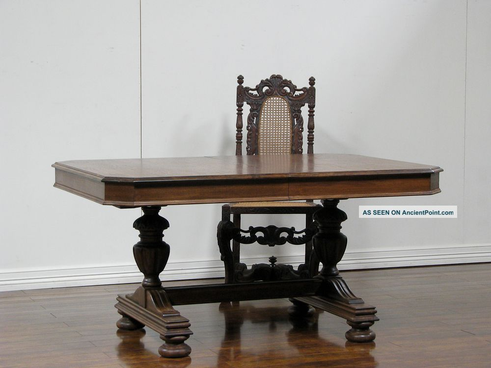 Dk0220 : American Walnut Dining Table 1900-1950 photo