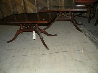 Matching Pair Of Antique Mahogany Tables photo