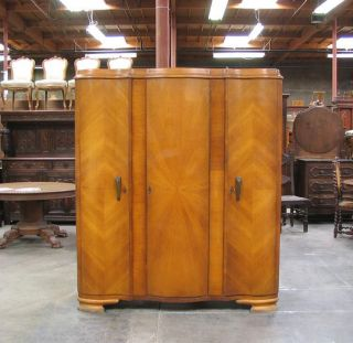 55208 : Oak French Deco Armoire photo