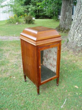 Fabulous Antique Victrola Phonograph Display Cabinet photo