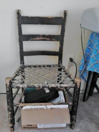 Vintage Rawhide Seat Chair photo