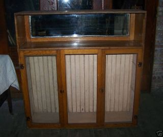 Vintage China Cabinet Cupboard Display Case photo